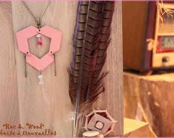 """Rock & Wood"" collection necklace Rose"