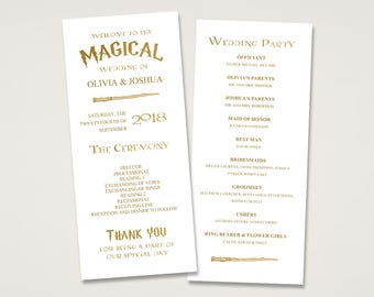 Harry potter wedding invitation | Etsy