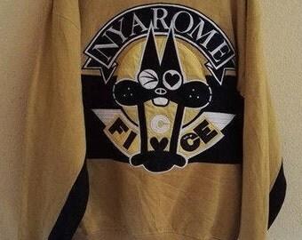 Vintage Ficce Uomo nyarome Sweatshirt  Big Logo