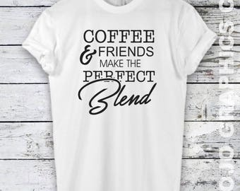 Coffee And Friends Shirt - Death Before Decaf shirt, funny coffee tshirt, coffee shirts, coffee lover prints, coffee tumblr shirt