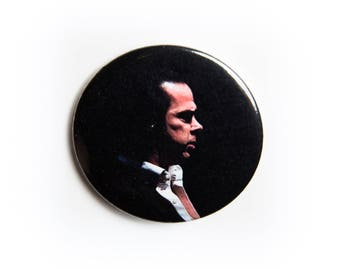 Silhouette Nick Cave and The Bad Seeds live concert photography 2 1/4 inch photo pin back button