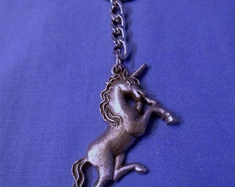 Handmade Pewter Keyring  *Unicorn*  Full of wonderful detail.   Holds lots of Keys.