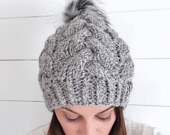 Luxe Braided Cable Beanie