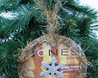Bones Christmas Ornament Upcycled TV Show DVD #7