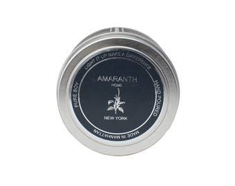 Pamplemousse (Grapefruit) Travel Tin soy candle, soy candles handmade, scented soy candles, pure soy candles, made in New York
