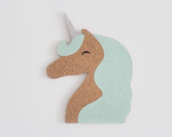 Unicorn Cork Bulletin Board, memo Board (color picker)