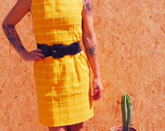 Handmade 1970's hand sewn Vintage french dress