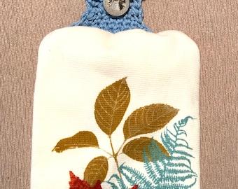 Blue Kitchen Towel Holder