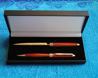 Handcrafted Pen and Letter Opener Set - Podaux