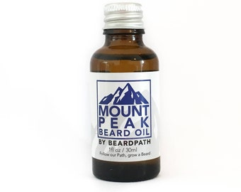BEARD OIL | Mount Peak | birthday gift for him | Beard care & grooming | 30ml | small batch