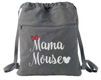 Mama Mouse - Disney Mom - Disney Bag - Disney Tote - Disney Backpack - Personalized Bag