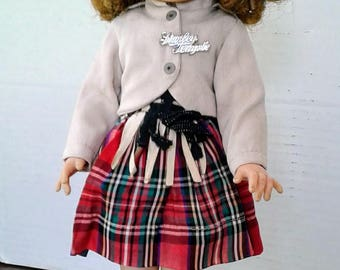 "Shirley Temple Doll Ideal Wee Willie Winky Shirley Script Pin 15"" Doll"