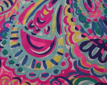 """Lilly Psychedelic Sunshine Pima Cotton Fabric 18"""" Square or By The Yard"""