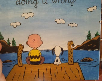 Peanuts Charlie Brown and Snoopy canvas