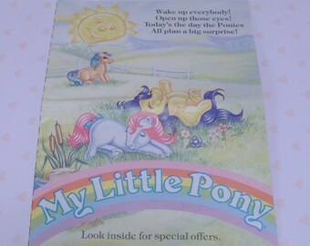 PAMPHLET/OFFER~*My Little Pony*~*G1~Collectors/Birthflowers/Free Poster Booklet~Mail Offer