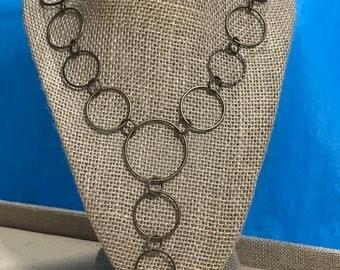 Bronze Link Y Necklace