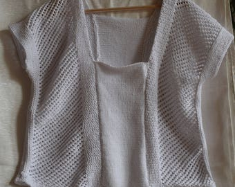 Cotton hand knitted summer top
