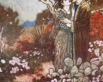Art Nouveau, Art nouveau print, Edmund Dulac print, vintage, vintage print, home decor, wall decor