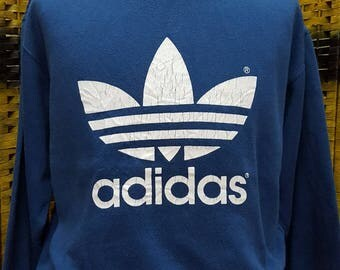 Vintage ADIDAS TREFOIL / adidas big log / Medium size sweatshirt (R028)