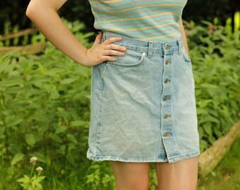 90s Jean Button Down Skirt