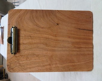 Fancy clipboard made from Texas Mesquite wood