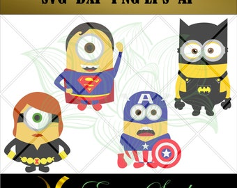 Minion Super Hero svg, Avengers svg fantastic svg, Studio files for cricut,svg files,Cricut Downloads,Instant Download