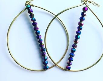 Sparkle bead earrings