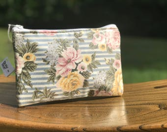 Handmade Floral Carry All Pouch