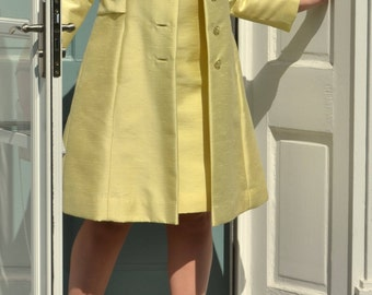 Vintage Yellow Two Piece Suit