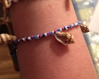 Green, White, and Pink as well as Purple, Blue, and White Friendship Bracelets