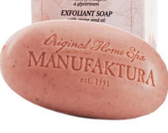 Exfoliant Soap with Grape Seed Oil and Glycerine, Manufaktura - Czech origin, tradition, quality, natural material