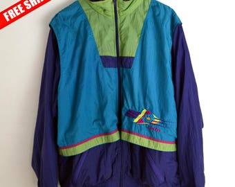 Lotto windbreaker women XL 90s windbreaker Vintage Windbreaker Lotto Retro jacket Bomber Windbreaker women 90s Jacket men M L Vintage Lotto