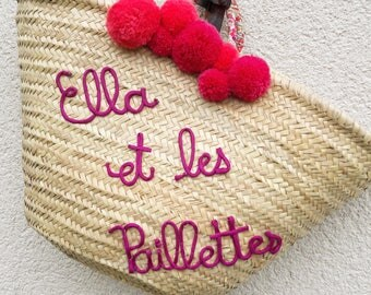 Basket personalized liberty tassels