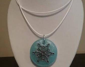 Snowy Winter Necklace - Blue