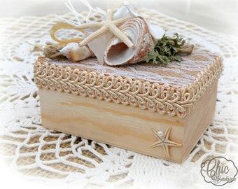Beach Wedding - Ring Bearer's Box