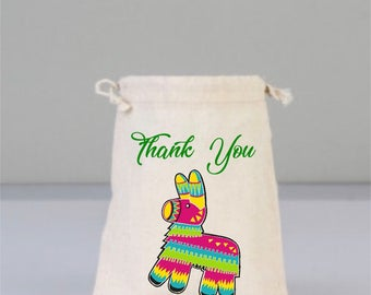 Bachelorette Party Bag, Drawstring Mini Favor Bags,  Wedding Party Favor, Mexica Pinata  Party Favors, Fiesta Party Favors, Thank You Bags