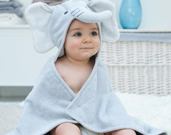 Humphrey Elephant Baby Towel (can be personalised)