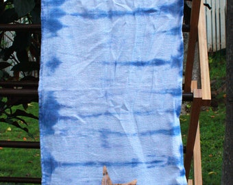 Tie-dye Hand Towel with Rose Gold Mermaid