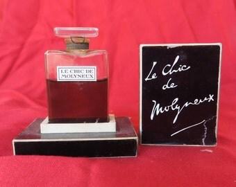 ancien flacon à parfum de collection le chic de MOLYNEUX, old collectible perfume bottle, alte Sammlerparfümflasche