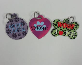 Personalized Dog Tag!-Custom Photo Pet tag -Customize a dog tag with your own photos or images!