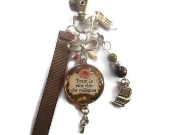 """Bag charm, door keys/colleague / """"for the chic colleagues"""" / gift/faby Wonderland"""