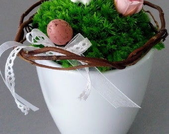 Easter - Stabilized flowers decoration