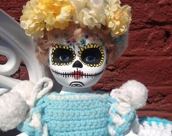 Day of the Dead girl, turquoise.