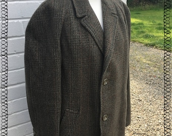 Mens Vintage Scottish Tweed Coat