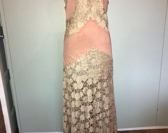 30s long lace dress