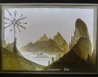 Frozen - Handmade paper cut lightbox
