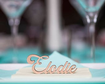 Table - mark up - wedding, birthday, christening - laser cut - first name name wood - wood letter