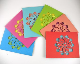 Greeting Card Set-Card Set-Blank Card Set-Elegant Note Cards-All Occasion Handmade Cards-Hostess Gift Cards-Thank You cards-Set of 6