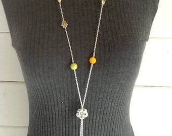 Necklace Orange and yellow