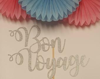 Bon Voyage (non personalised) Cake Topper